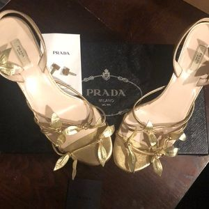 STUNNING Prada heels with box and extra lifts